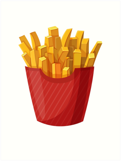 French Fries Graphic Art Print By Sylviebinder Food Clipart Clip Art Food Art