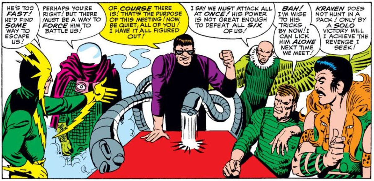 Sinister Six by Steve Ditko | Comic book villains, Spiderman, Best comic books