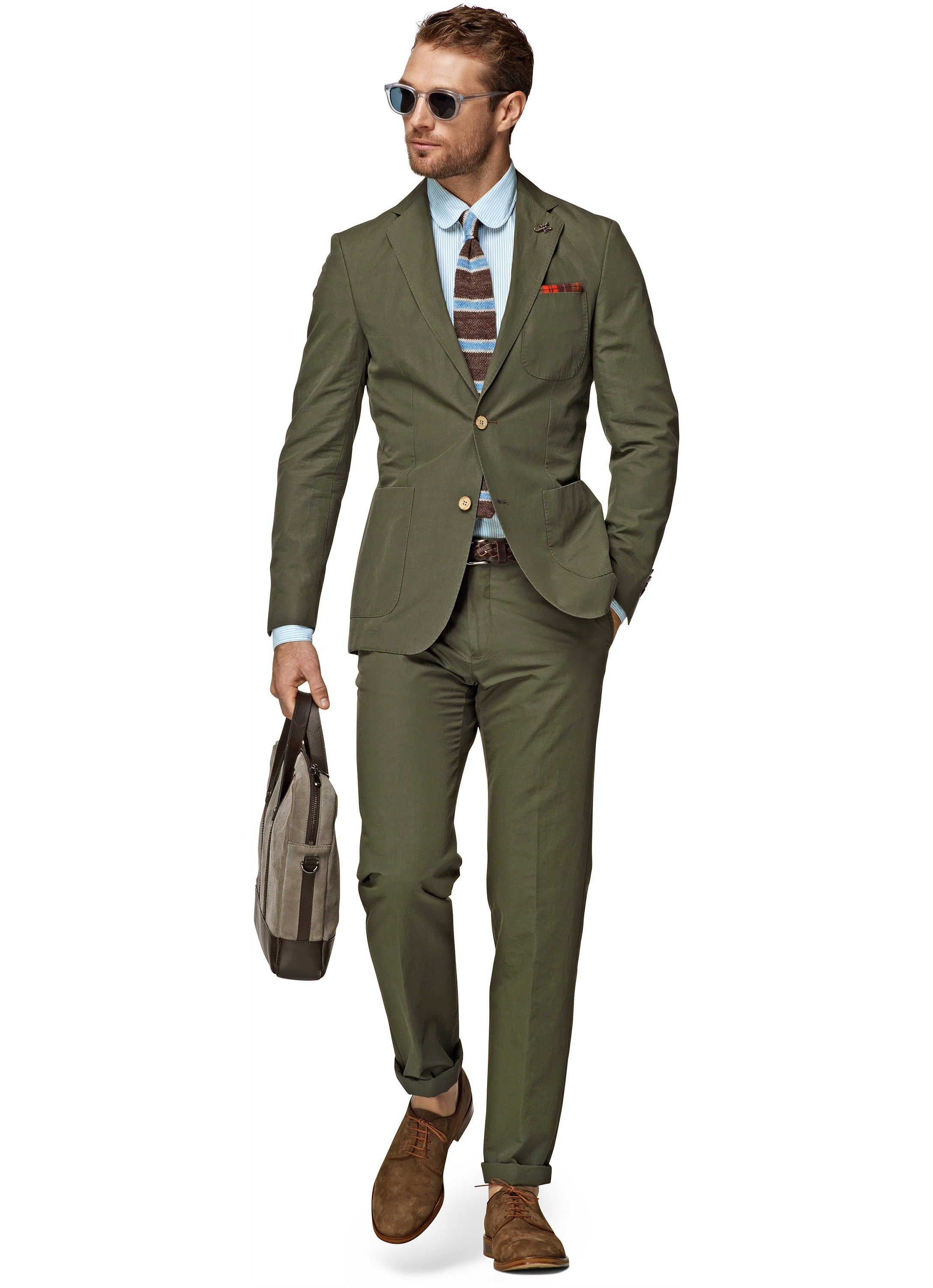Suit Supply COPENHAGEN GREEN PLAIN  a53e0764777