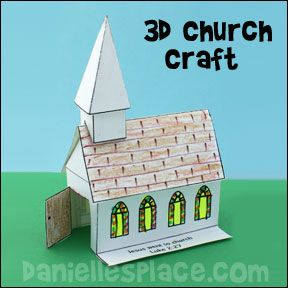 3d Church Bible Crafts For Sunday School From Www Daniellesplace Com