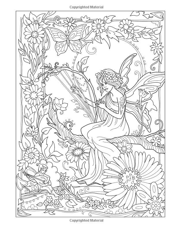 Creative Haven Magical Fairies Coloring Book Amazon Ca Marjorie Sarnat Books Fairy Coloring Book Fairy Coloring Pages Fairy Coloring