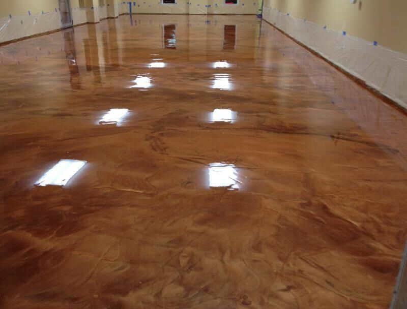 Epoxy Flooring Metallic Coloring Better Than Stained