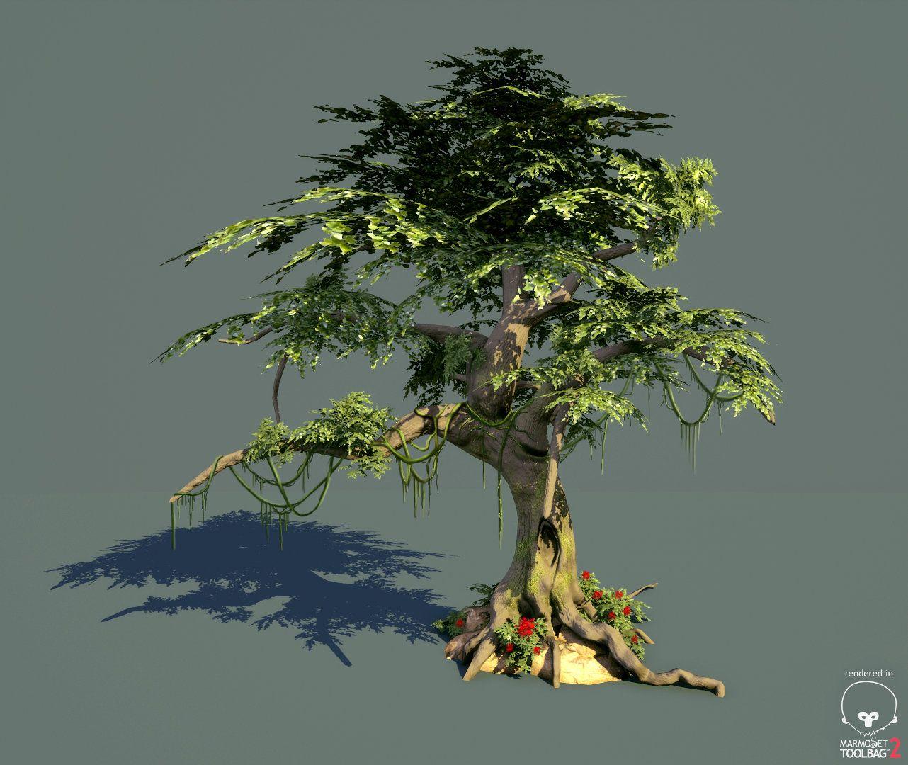 LowPoly Tree, Mehran Bagheri (Suni) on ArtStation at https://www.artstation.com/artwork/bg3vd