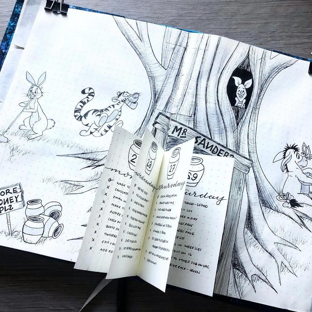 Looking for inspiration for your weekly bullet journal spreads? Look
