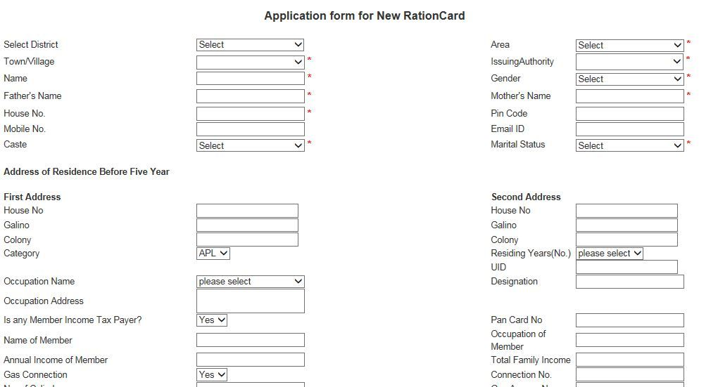 Know How To Apply New Haryana Ration Card Online With Images