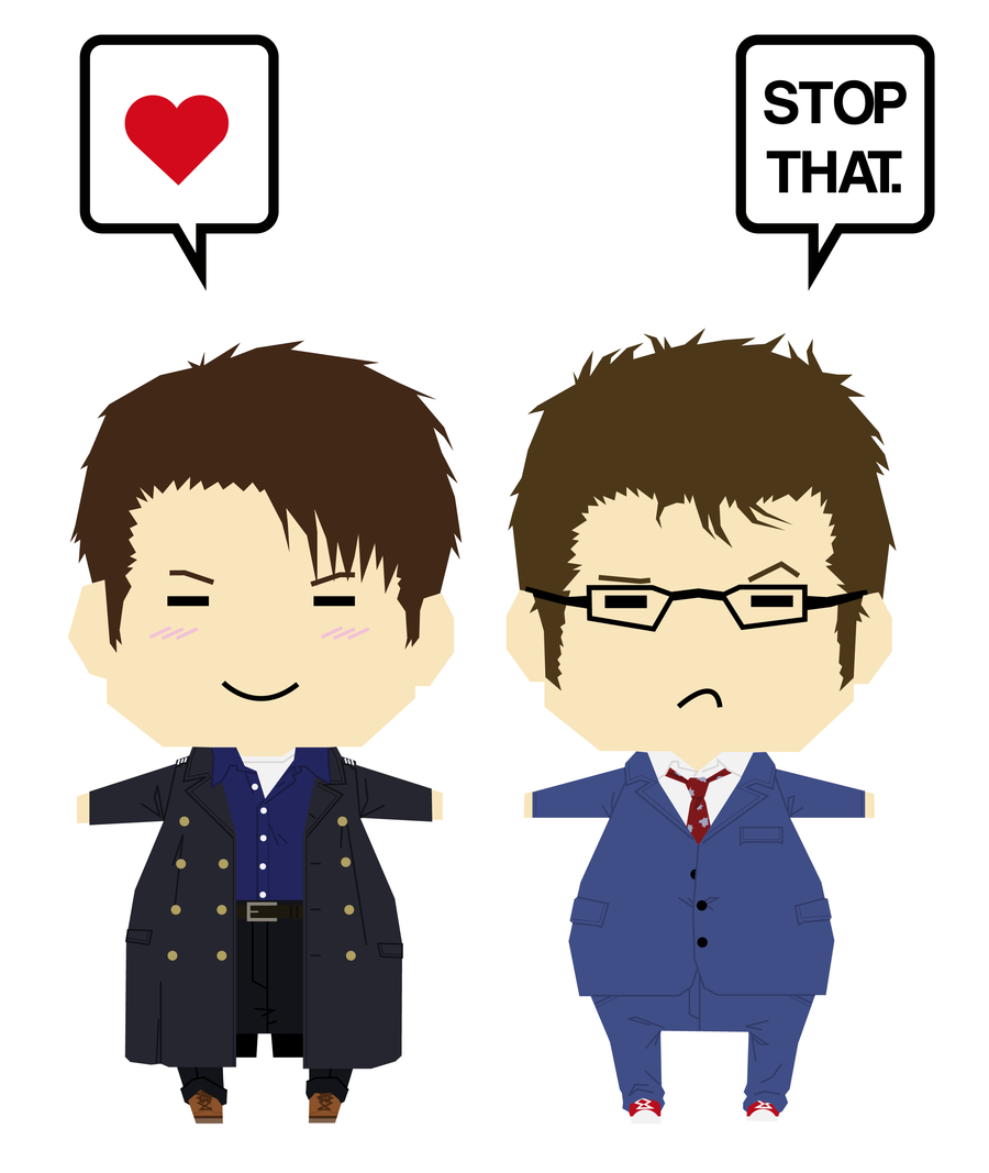 The Captain and the Doctor by Kumagorochan.deviantart.com on @deviantART