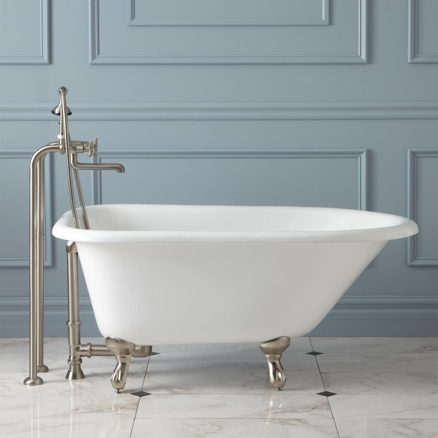 48 Cambria Cast Iron Roll Top Clawfoot Tub