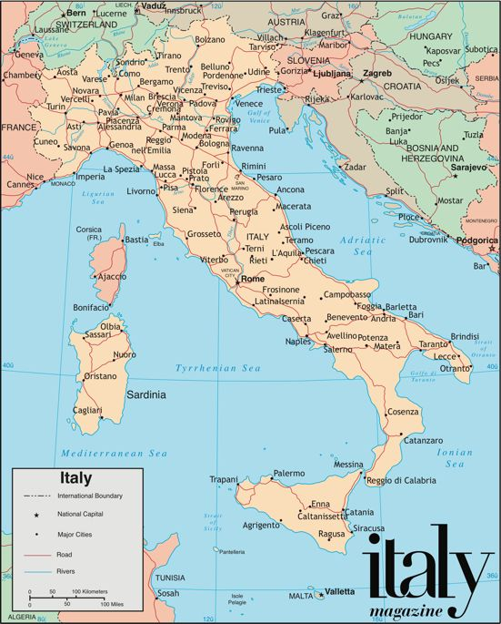 Cities In Sicily Italy Map.Map Of Italy Italy Italia 2 Italy Map Italy Italy Vacation