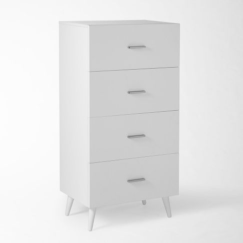 "West Elm  Adams 4-Drawer Dresser  23.5""w x 15.75""d x 46""h.  $399."