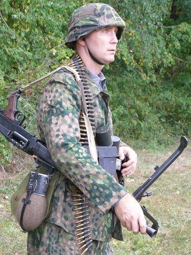 Waffen SS Herringbone Twill (HBT) M44 Dot (Erbsenmuster ...