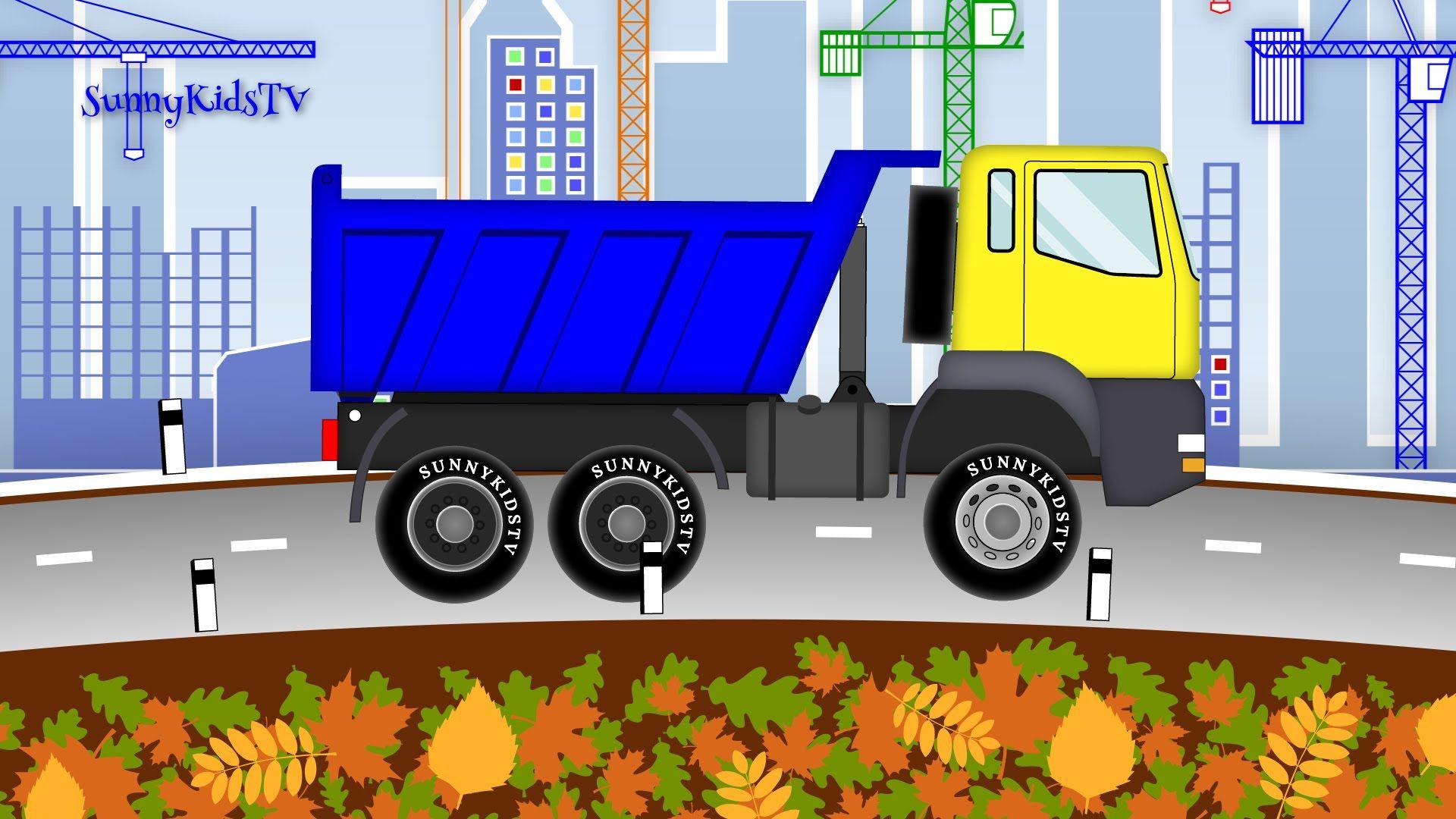 Cars Excavator Dump Truck Cartoon Camion De Basura Excavadoras Ninos