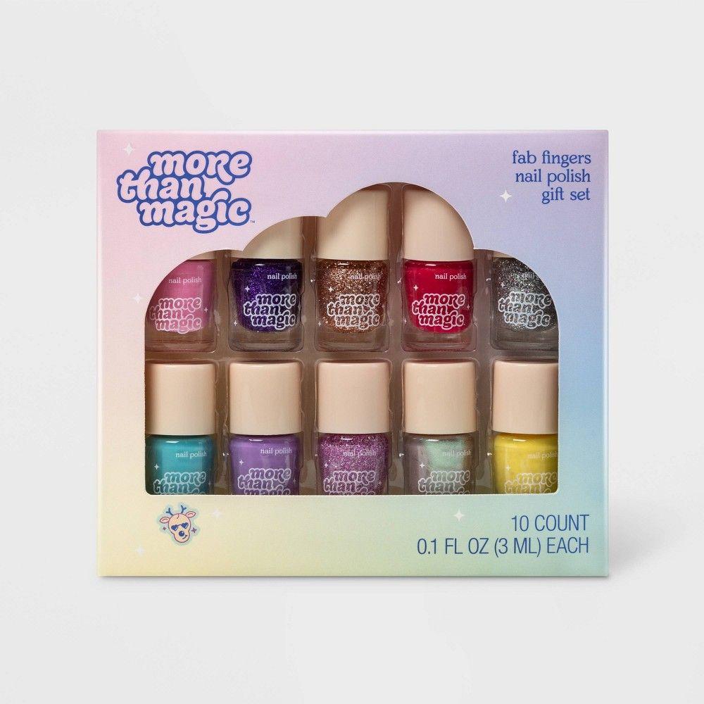 Fab Fingers Nail Polish Gift Set 10pc More Than Magic Nail