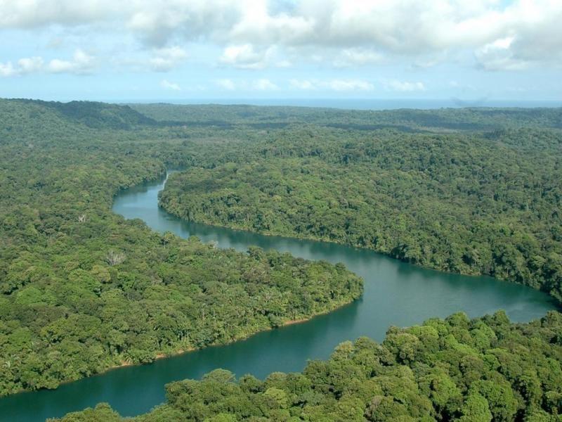 Áreas protegidas en la provincia de Darién, Panamá.