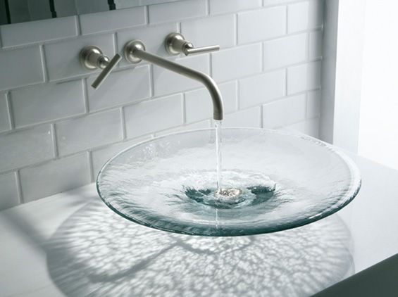 Kohler Glass Basin (love This, But My Hard Water Would Make It Look Horrible