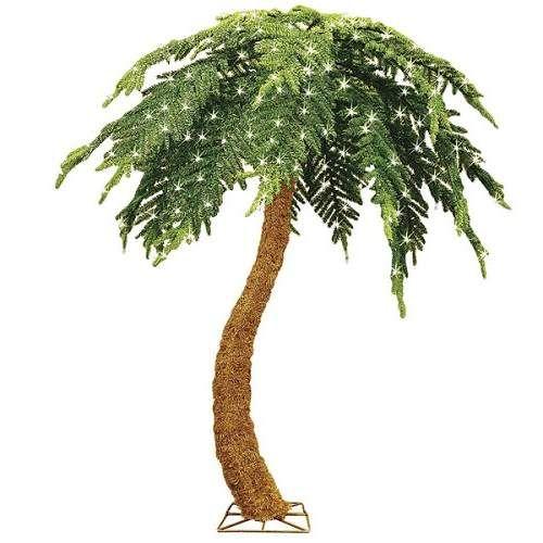 Pre Lit Fake Outdoor Palm Trees Christmas Palm Tree Tropical