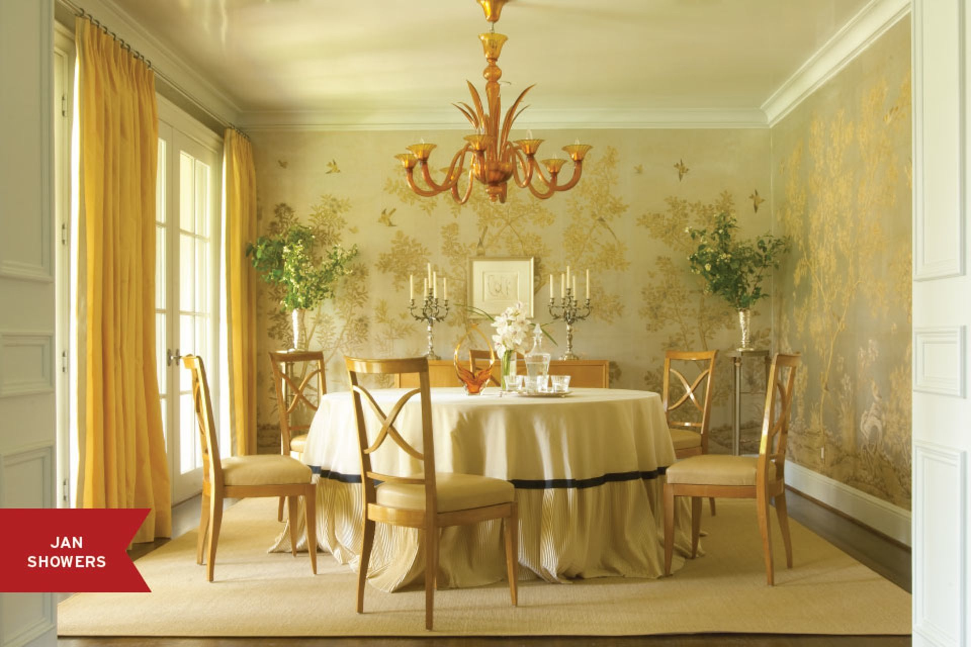 10 Dining Rooms with Creative Wall Designs | Creative walls, Showers ...