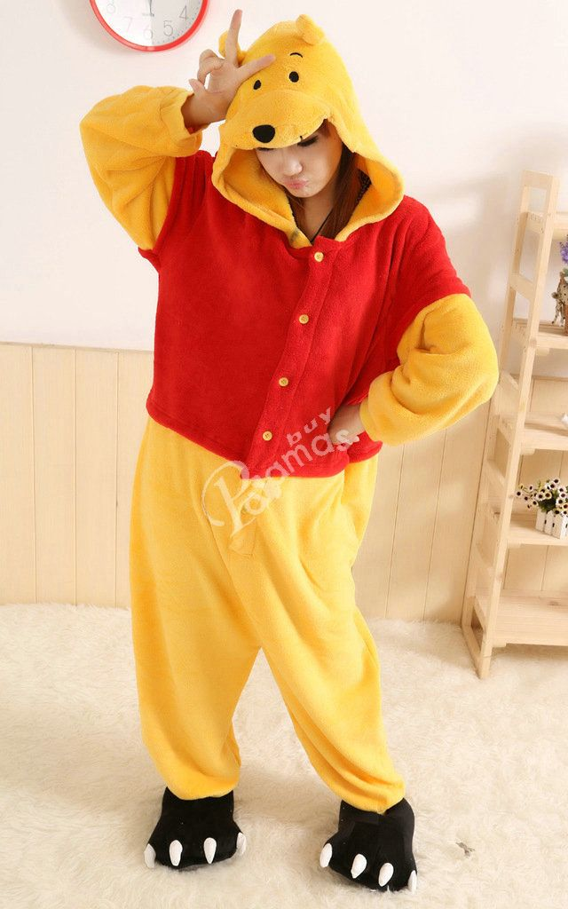 73719fd5a45e PajamasBuy - Hot Animal unisex Adult Winnie the Pooh Onesies ...