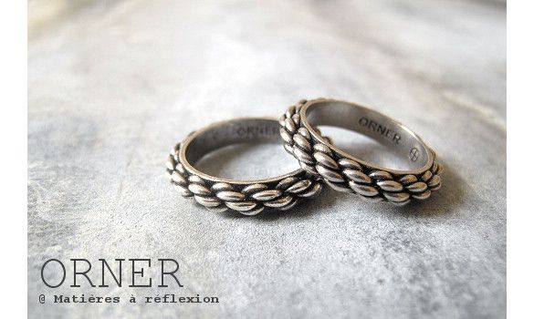 bague homme cordage