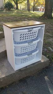 Laundry basket rack Laundry room decor Organizer
