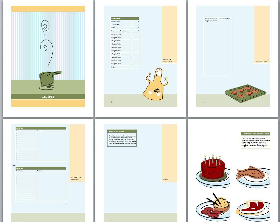 cookbook template recipe book template cookbook template indesign