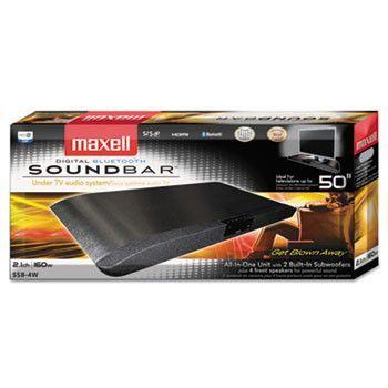 Soundbar, Four Front Speakers, 160 Watts, Black