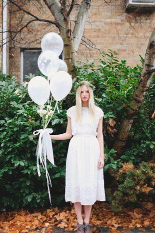 white bridesmaids dress  | onefabday.com