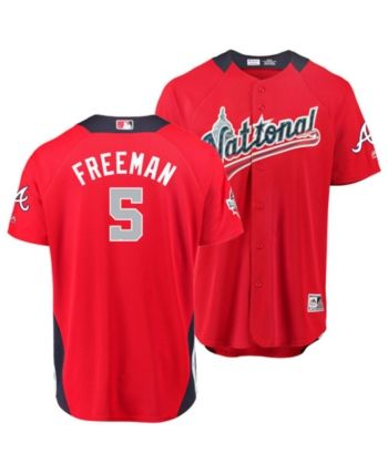 9154e8c2d Majestic Men s Freddie Freeman Atlanta Braves All Star Game Home Run Derby  Jersey - Navy Red 44