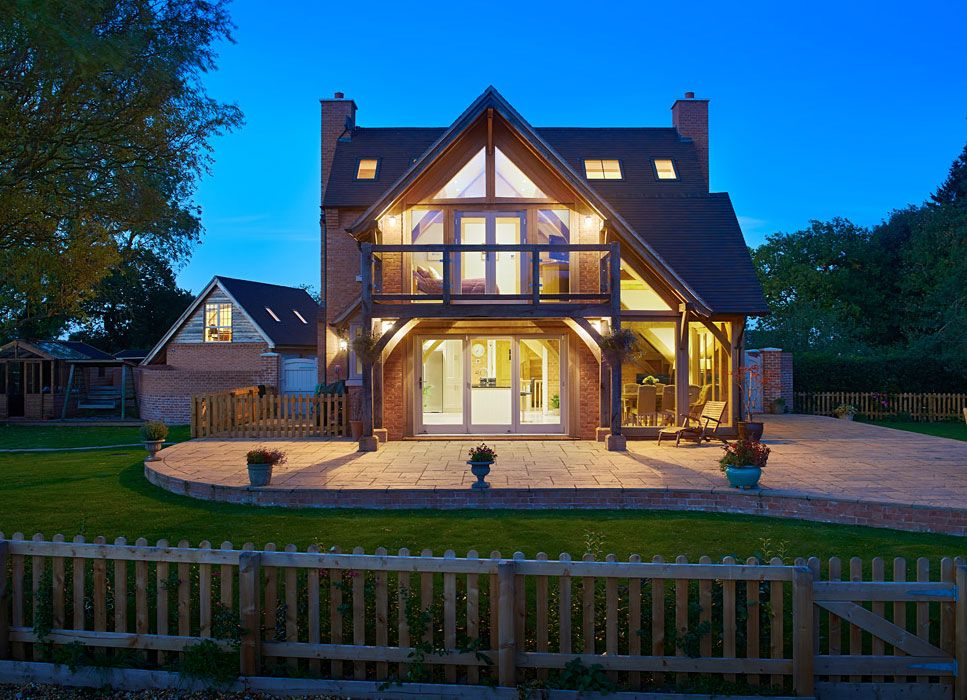 Oak Framed Buildings Oak Buildings Oakwrights Weatherboard House Oak Frame House Self Build Houses