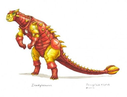 Ironkylsarous  http://www.iheartchaos.com/post/21325552255/fan-art-of-the-day-dinosaur-avengers