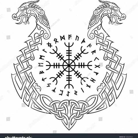 Runes Dragon Asatru Tattoos Tattoo Designs Viking Tattoos