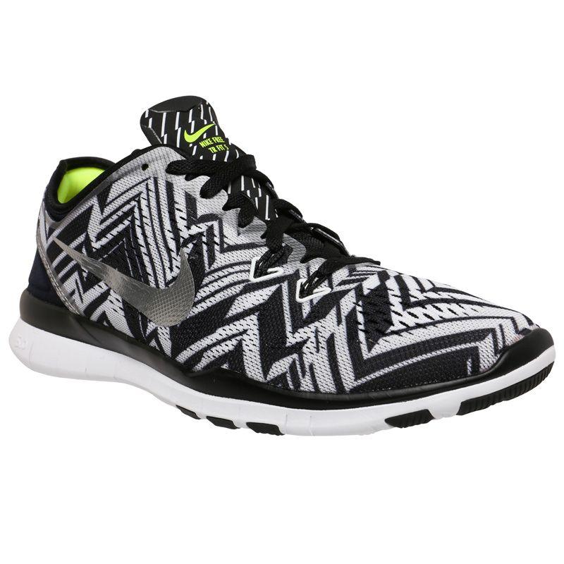 Free 5.0 Tr Fit 4 Prt Nike- Black/Metallic Silver sneakers
