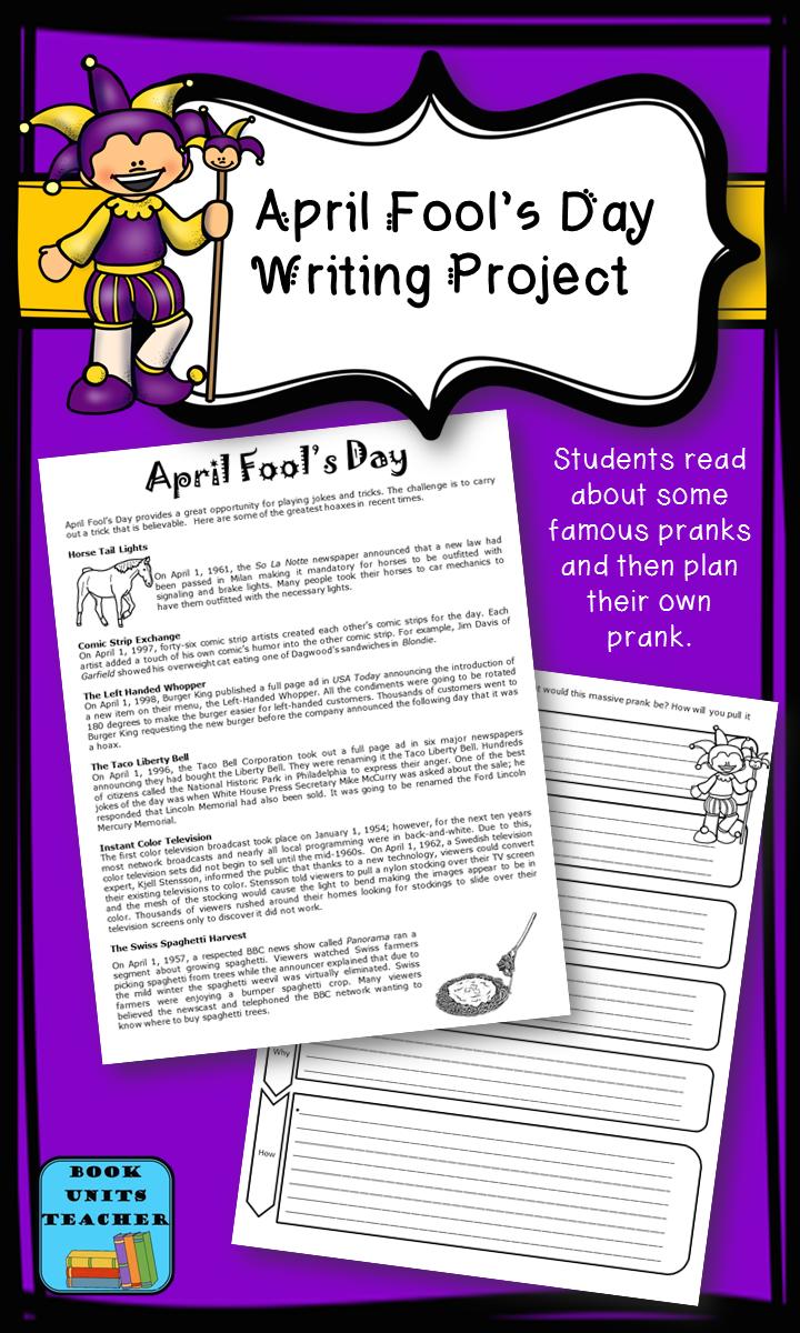 April Fool's Day Writing Project   April fools writing prompts [ 1200 x 720 Pixel ]