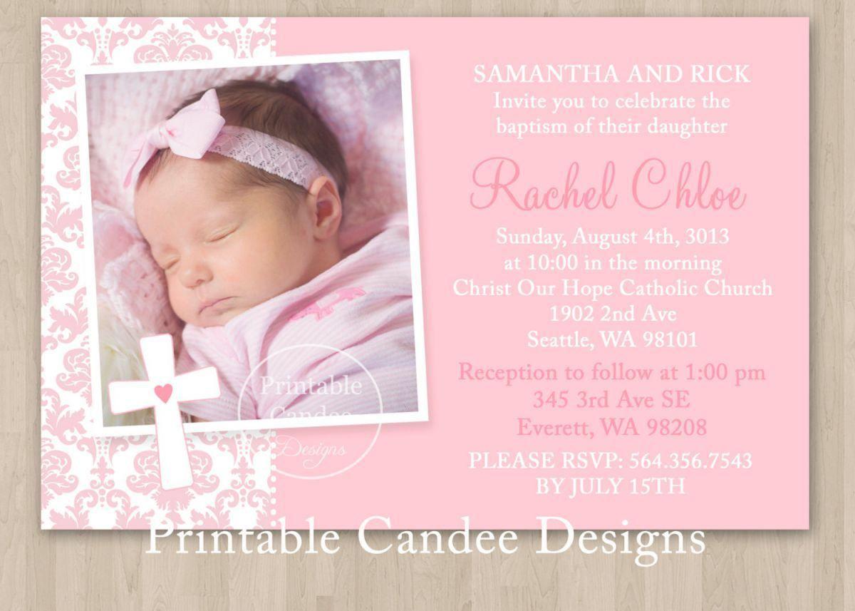Christeningsdsdsadasd Invitation For Baby Girl Christening