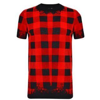 MCQ ALEXANDER MCQUEEN Textured Check T Shirt