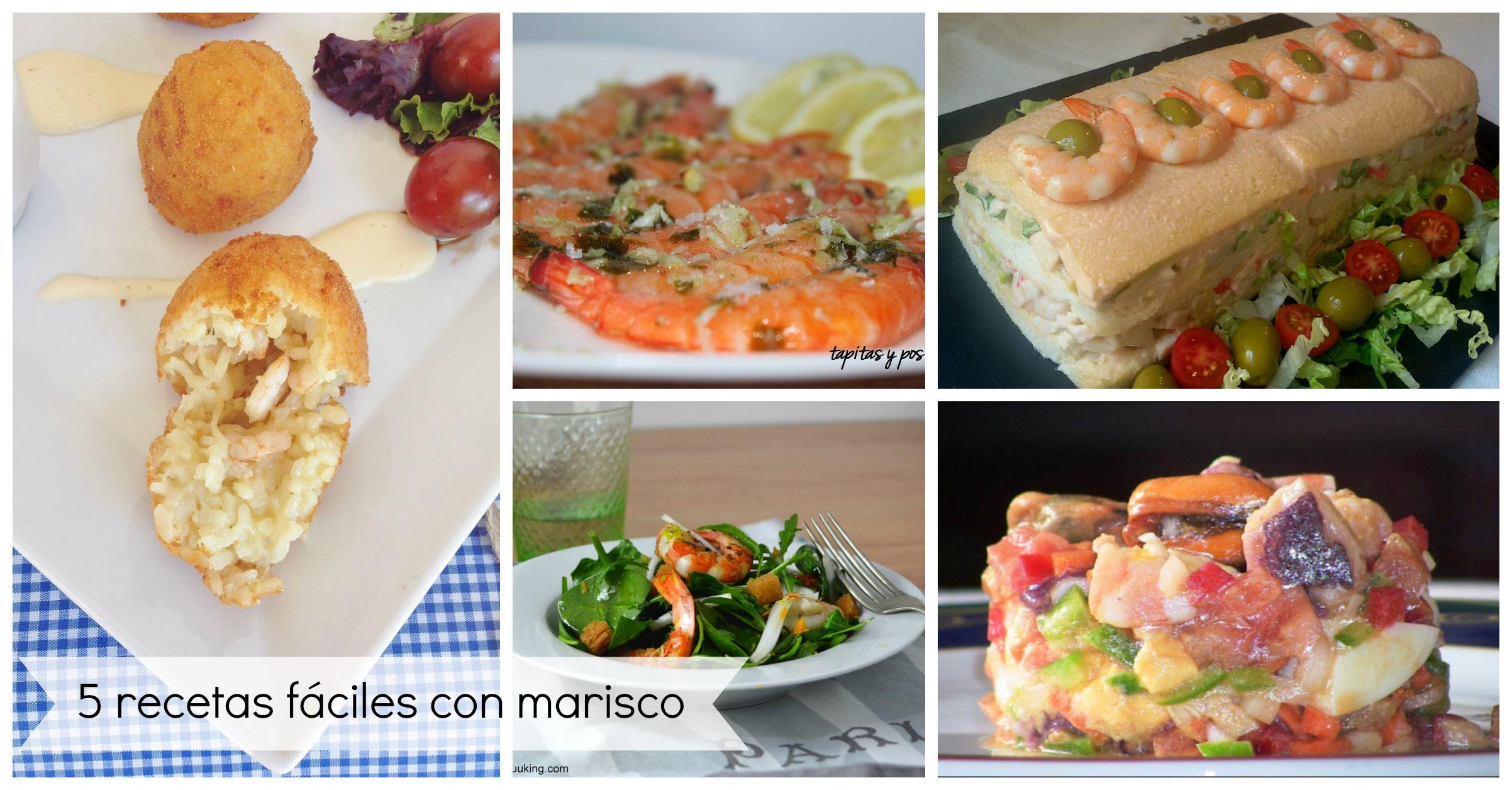 5 recetas fáciles con marisco