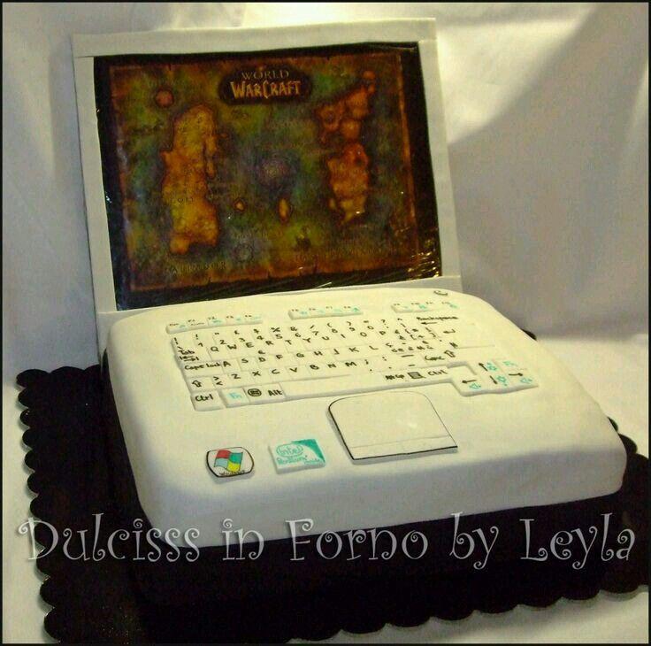 Decoration gateau ordinateur