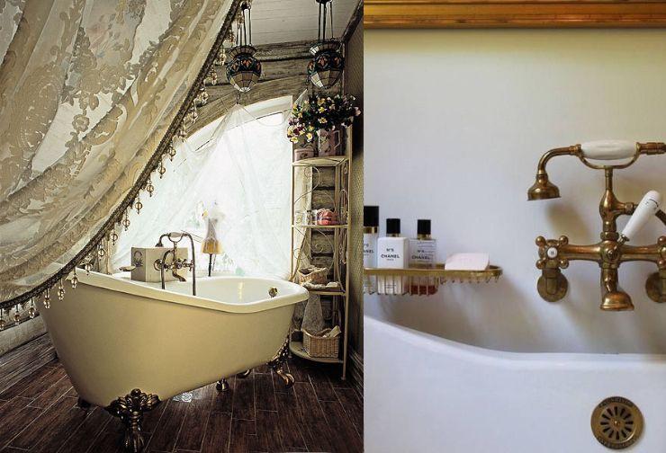 Gordijnen om bad knusser te maken badkamer