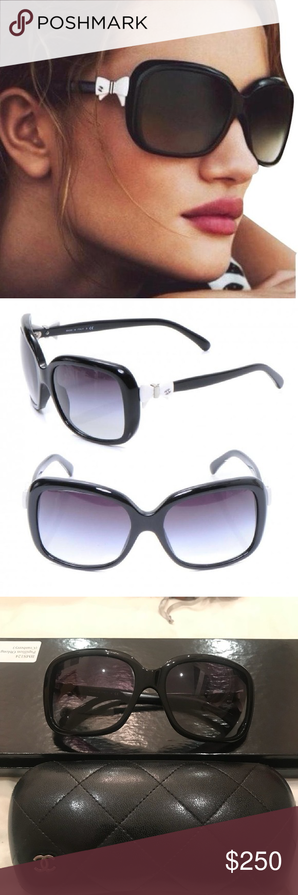b161d6d625 Chanel Bow Tie Ribbon Logo Square Tie Sunglasses Chanel 5171 Bow Tie Ribbon  Logo Square Tie