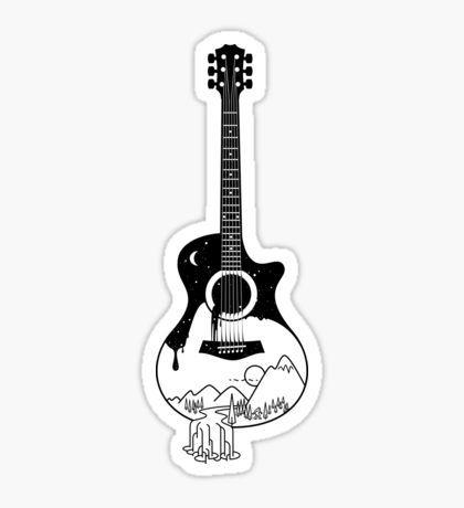 Guitar Stickers Stikery Dlya Noutbukov Naklejki Gitara