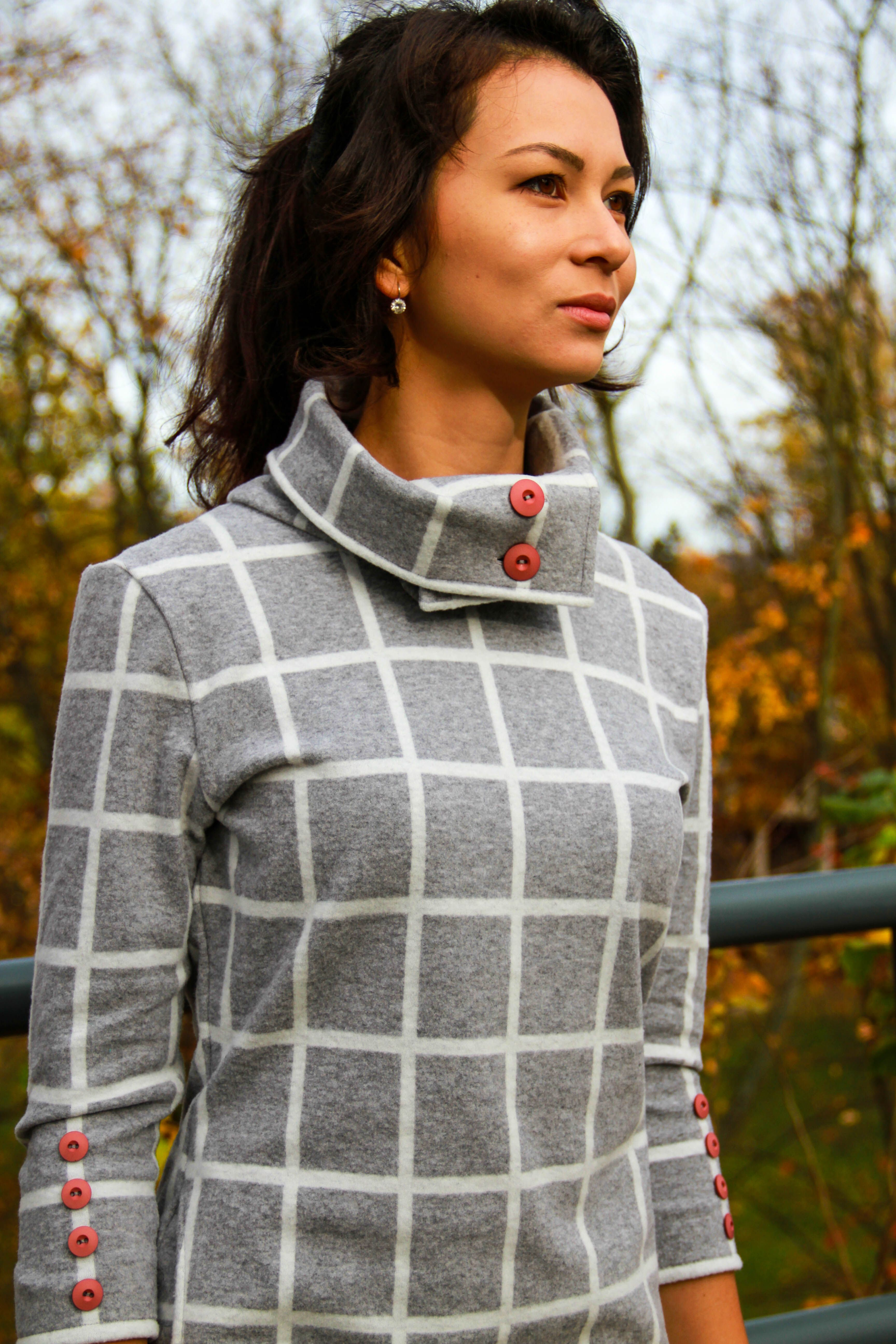 f07486700782 Střih na dámské podzimní šaty   mikinošaty LUCKY YOU (velikosti 32 ...