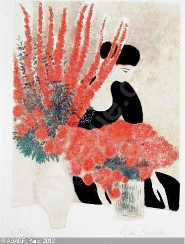 andre brasilier | Paris Segi Andre Brasilier S N Lithography Symphonie En Rose Pink 800 ...