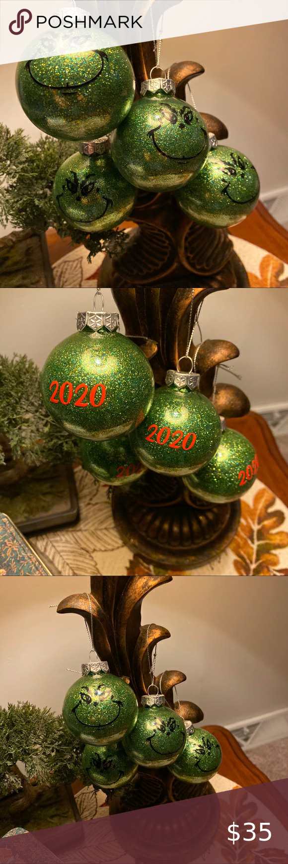 New Handmade Grinch Ornaments in 2020 Grinch ornaments