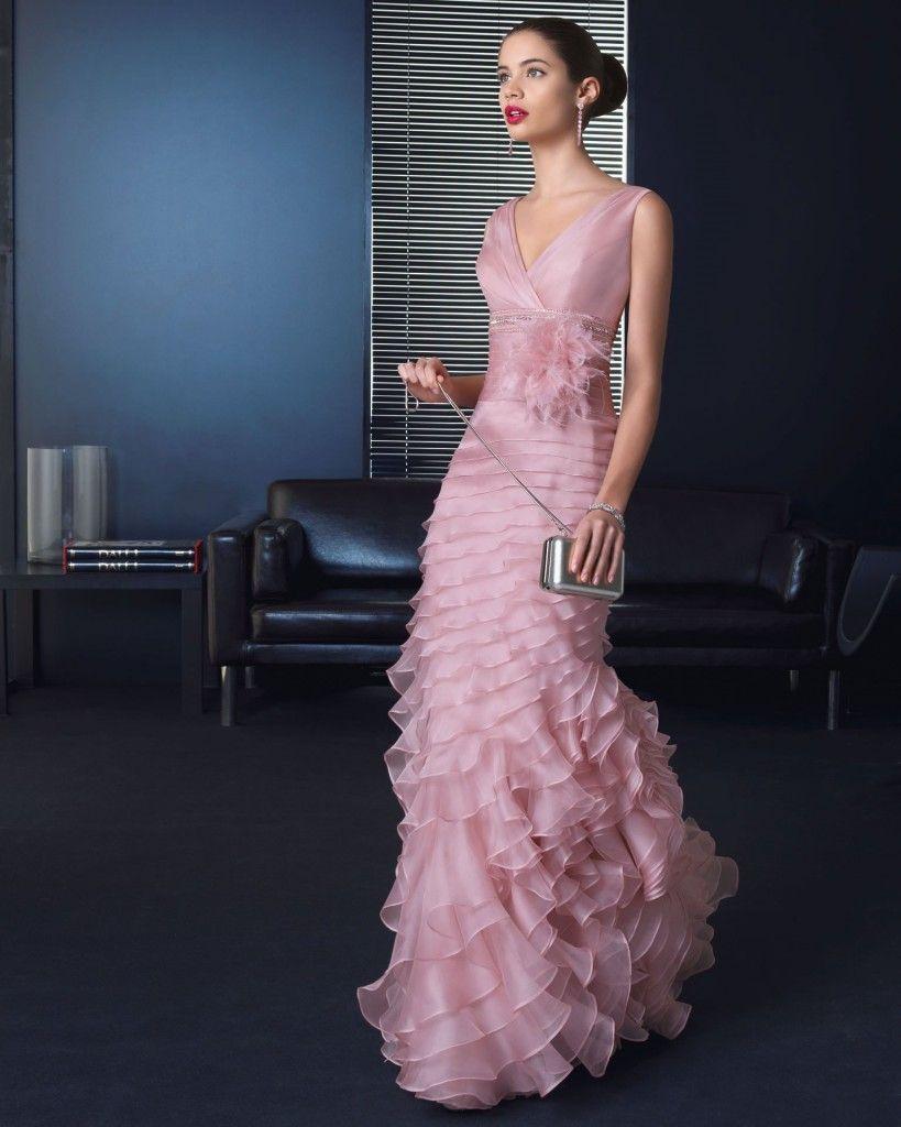 Vestidos de fiesta rosa palo 2013