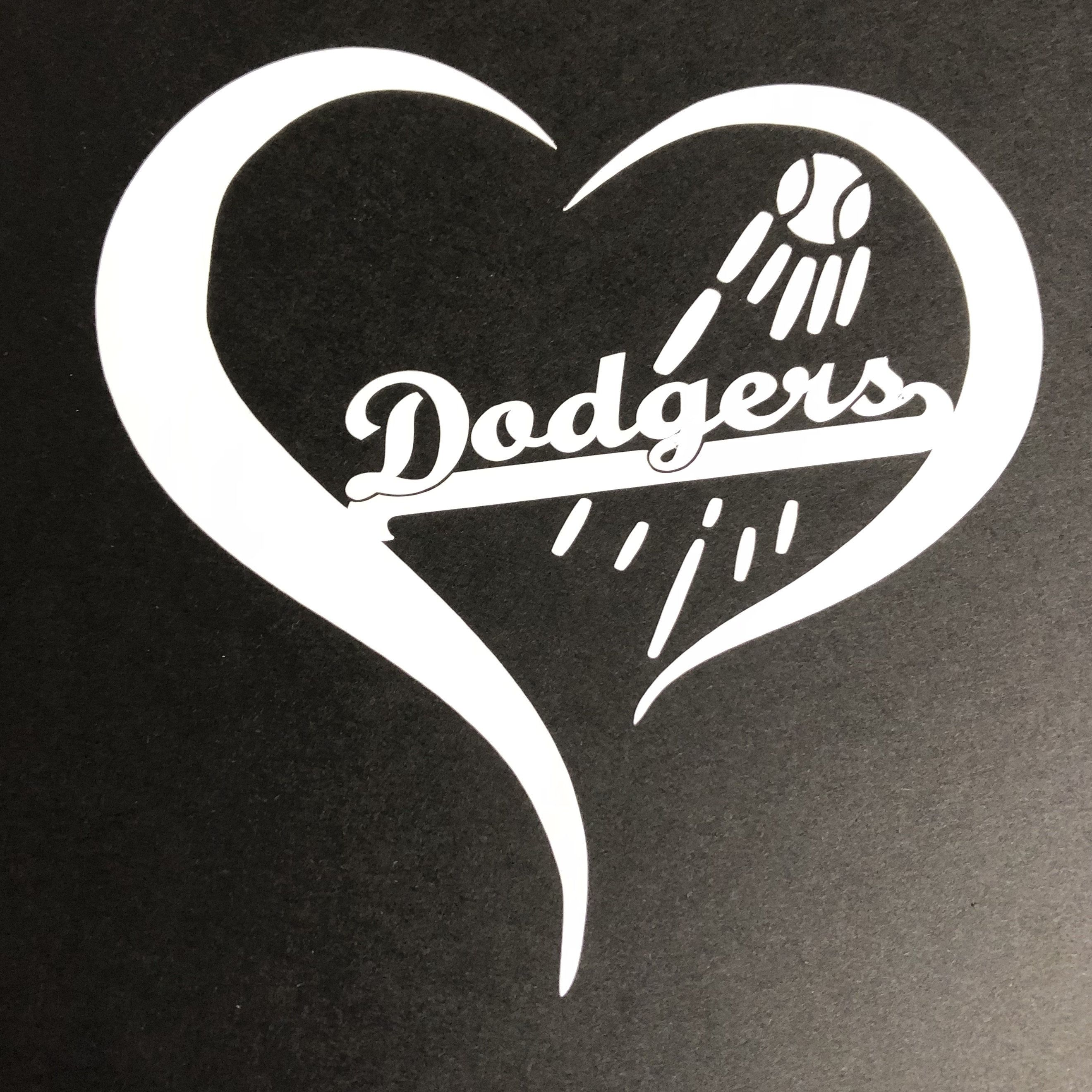 Los Angeles Dodgers Heart Decal Sticker For Hydroflask Mlb Baseball La California Heart Decals California Decal Hydroflask [ 2640 x 2640 Pixel ]