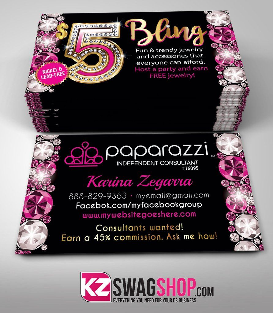 $5 Bling Jewelry Business Cards Style 13 - GEMZ | Business cards and ...