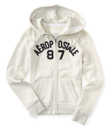 Aeropostale Womens /'87 Logo Hoodie Sweatshirt