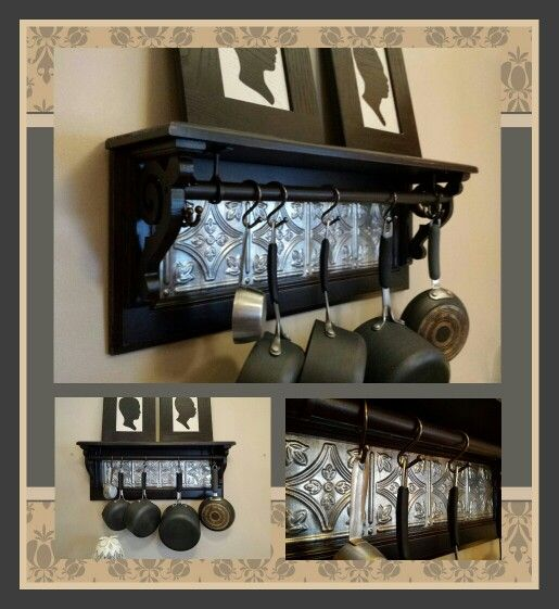 DIY Pot Rack Made With A Cabinet Door!
