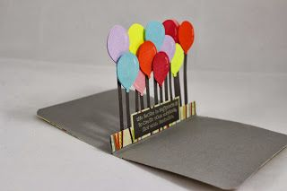 Craft-e-Corner Blog * Celebrate Your Creativity: World Card Making Day Pop Up Surprise Balloon Card Tutorial