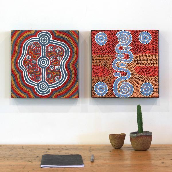 Peterson Jakamarra Walker, Janganpa Jukurrpa (Brush-tail Possum Dreaming)- Mawurrji, 30x30cm | Aboriginal Art | Art Ark - 2