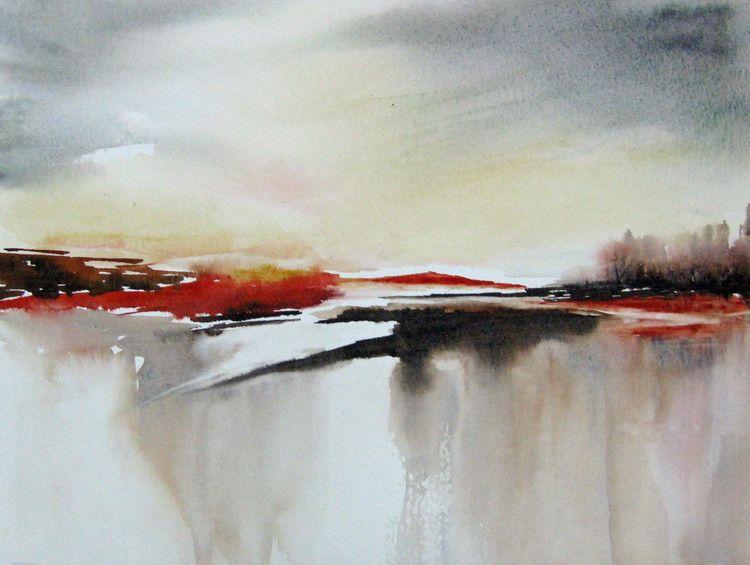 Terres Andalouses Peinture 40x30 Cm C 2014 Par Les Aquarelles D